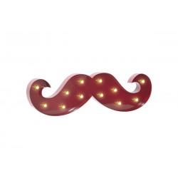 Moustache BARBER PRO rouge avec lumière