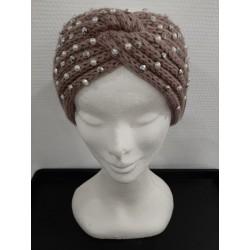 Bandeaux laine avec perle fine