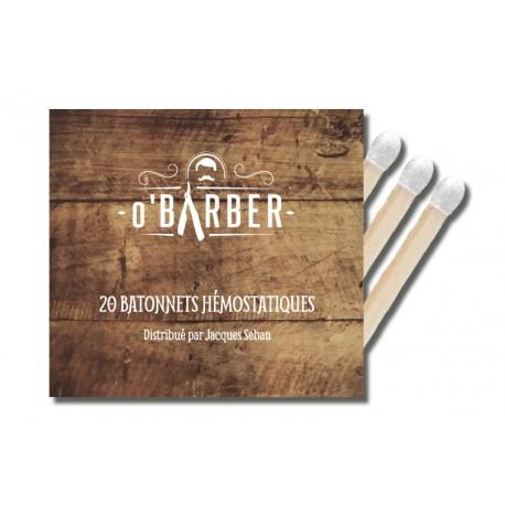 Pochette de 20 allumettes hémostatiques spéciale rasage O BARBER