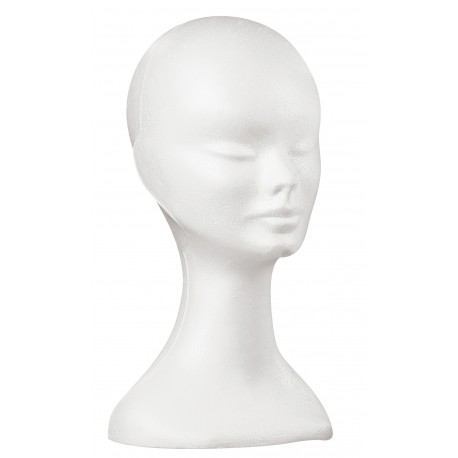 Tête porte perruque expansée JACQUES SEBAN blanc