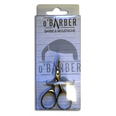 Ciseaux O'BARBER pour moustache et barbe petit modèle