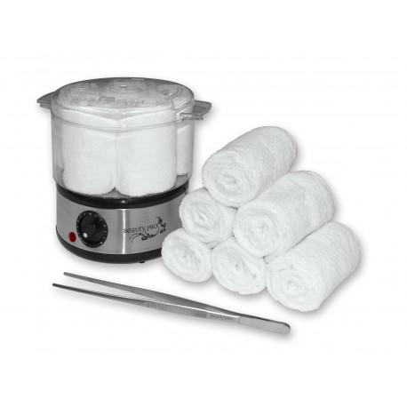 Kit chauffe serviette, une pince acier et 6 serviettes